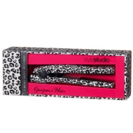 Mini Printed Hair Straighteners - White Leopard