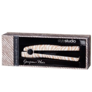 Mini Printed Hair Straighteners - Gold Zebra