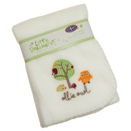Fleece Baby Blanket - Ollie Owl
