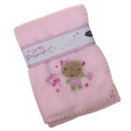 Fleece Baby Blanket - Pretty Kitty