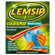 Lemsip Cold & Flu Breathe Easy Sachets 5pk