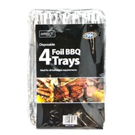 4pk Disposable Foil BBQ Trays