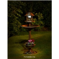 4-in-1 Bird Bath with Planter & Solar Light