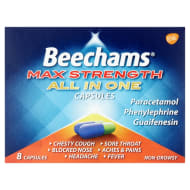 Beechams Max Strength All in One Capsules 8pk