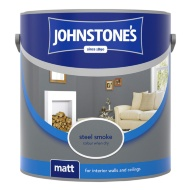 Johnstone's Paint Vinyl Matt Emulsion - Steel Smoke 2.5L