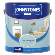 Johnstone's Paint Vinyl Matt Emulsion - New Duck Egg 2.5L