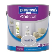 Johnstone's Paint One Coat Matt Emulsion - Moonlit Sky 2.5L