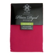 Plain Dyed One Pair of Cerise Housewife Pillow Cases
