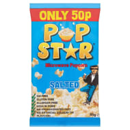 Pop Star Microwave Popcorn - Salted