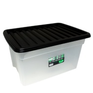 Large Clear Storage Box with Lid