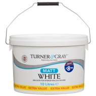 Turner & Gray Matt Emulsion Paint White 10L