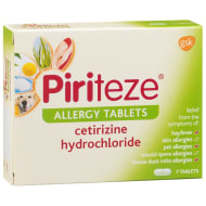Piriteze Allergy Tablets 7pk