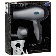 Style Studio Large Hairdryer 1800W - Silver Glitter