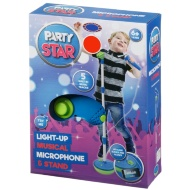 Party Star Light Up Musical Microphone with Stand