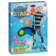 Party Star Light Up Musical Microphone & Stand - Blue
