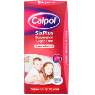 Calpol 6+ 180ml - Strawberry