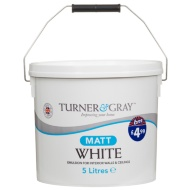 Turner & Gray Matt Emulsion Paint White 5L