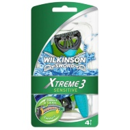 Wilkinson Sword Extreme 3 Sensitive Disposable Razor 4pk