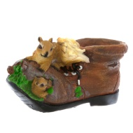 Boot Planter - Squirrel