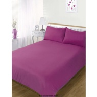 3 Piece Plain Colour Match Complete Single Sheet and Duvet Set