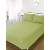 4 Piece Plain Colour Match Complete Double Sheet and Duvet Set