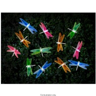 12 Fibre Optic Dragonfly Solar String Lights