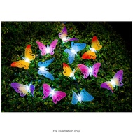 12 Fibre Optic Butterfly Solar String Lights