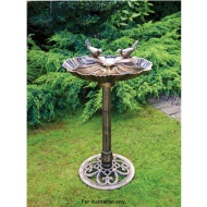 Bronze Effect Double Bird Bath