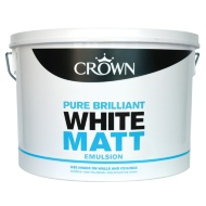 Crown 10L Pure Brilliant White Matt Emulsion