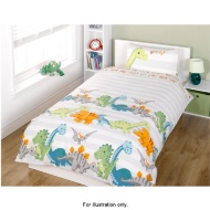 Boys Single Duvet Set Dinosaurs