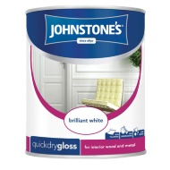 Johnstone's Quickdry Gloss Paint - Brilliant White 750ml