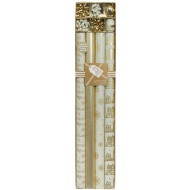 Luxury Foil Christmas Wrapping Paper 4pk - Gold & Cream