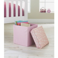 Printed Storage Seat - Pink Hearts