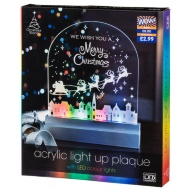 LED Light Up Christmas Plaque