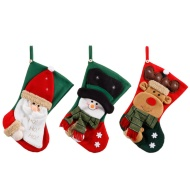 3D Applique Christmas Stocking