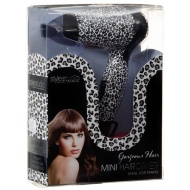 Printed Mini Hair Dryer - White Leopard