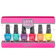 Love Nails Glitter Nail Set - Neon 6pk