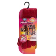 HEATsaver Ladies Thermal Insulated Gloves - Red
