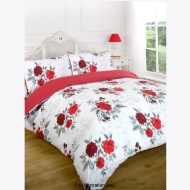 Red Printed Duvet Assorted Double