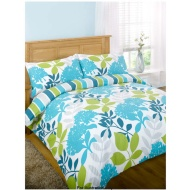 Blue Greens Duvet Assorted Double Organic Floral