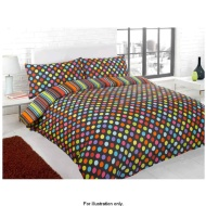 Essentials Bright Double Duvet Set Black Spot