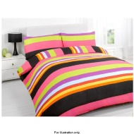 Essentials Bright Double Duvet Set Bright Tommy Stripe