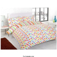Essentials Bright Double Duvet Set Bright Linear Spot