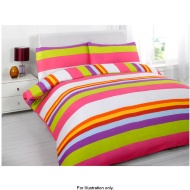 Essentials Bright Double Duvet Set Bright Elena Stripe