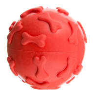Squeaky Rubber Dog Ball - Red