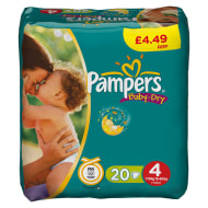 Pampers Baby Dry Nappies Maxi 20pk