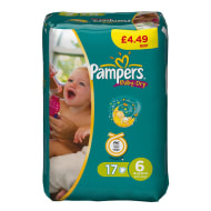 Pampers Nappies Extra Large 17's