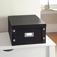 Croc Paper Storage Box Large - Black
