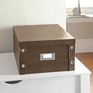 Croc Paper Storage Box Large - Brown