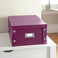 Croc Paper Storage Box Large - Purple